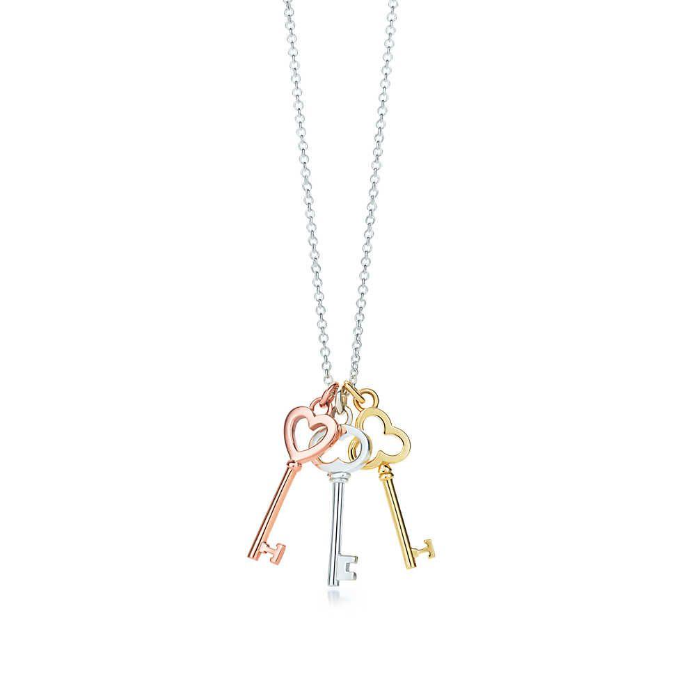463dc773e858bb Pendentif Trois mini clés, Clés Tiffany en argent et or rose et jaune 18  carats.   Tiffany   Co.