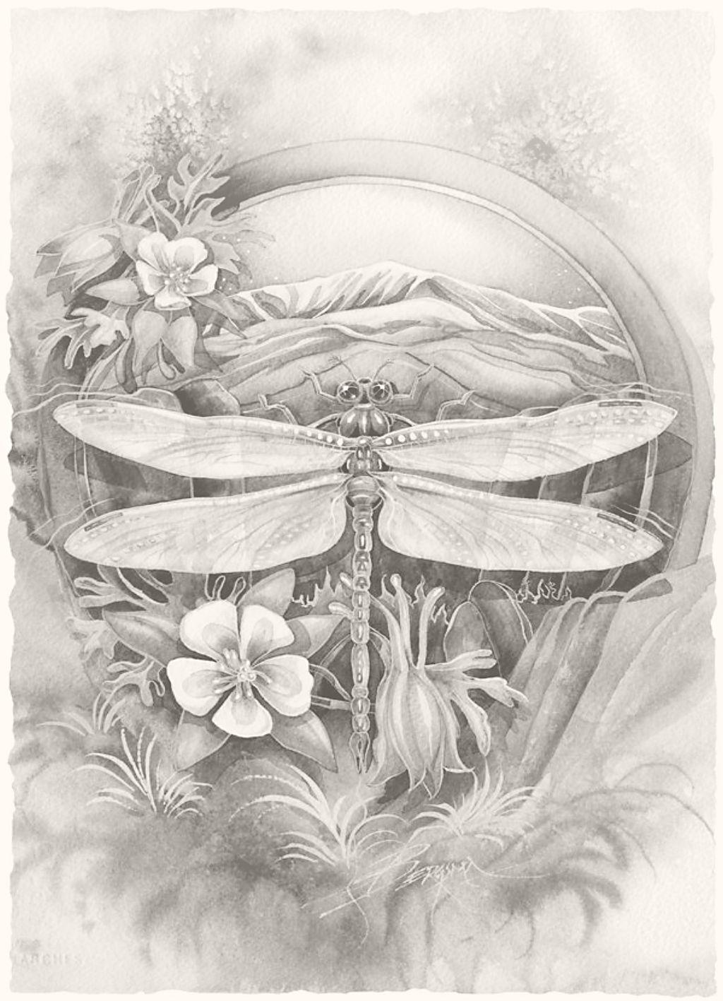 Journey to paradise art print by jody bergsma dragonflies