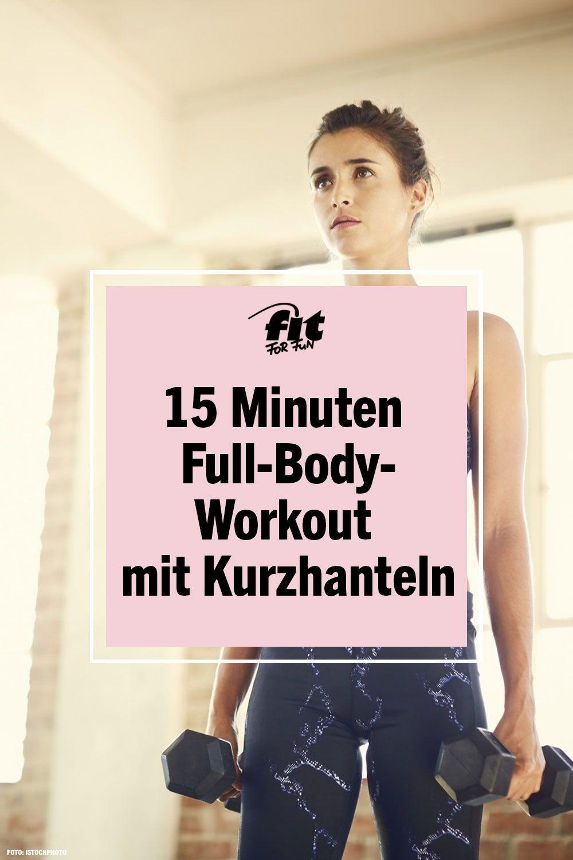 20 Minuten Full Body Workout mit Kurzhanteln von MadFit   FIT FOR ...