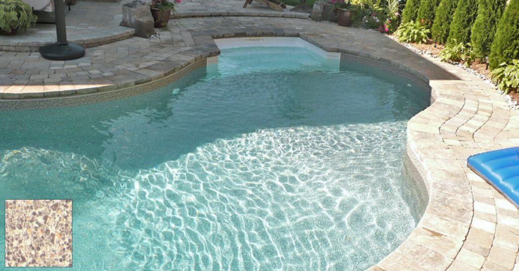 Image Of Brown Pebble Pool Liner Pool Liners Vinyl Pool Pool Designs