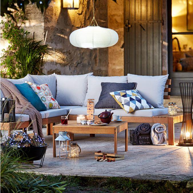 Buy Argos Home 6 Seater Wooden Corner Sofa Set Patio