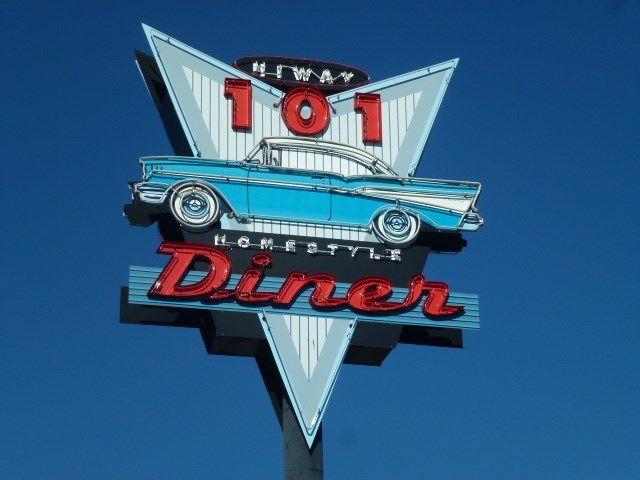 101 Diner Sign, Sequim, WA Image