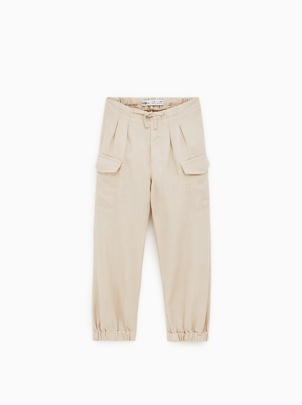 Flowy Cargo Pants With Elastic Trim View All Leggings And Pants Girl 5 14 Yrs Kids Zara Canada Celana