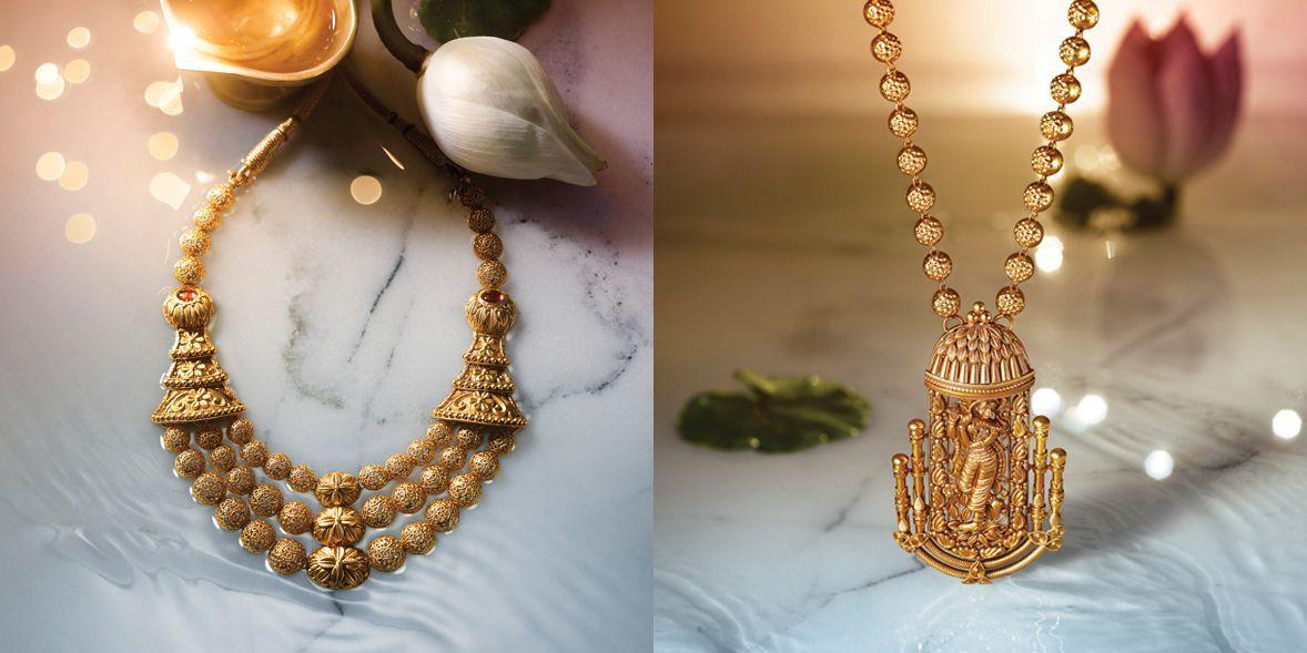 Tanishq Divyam Jewellery - I like the left one. its a beatiful ...