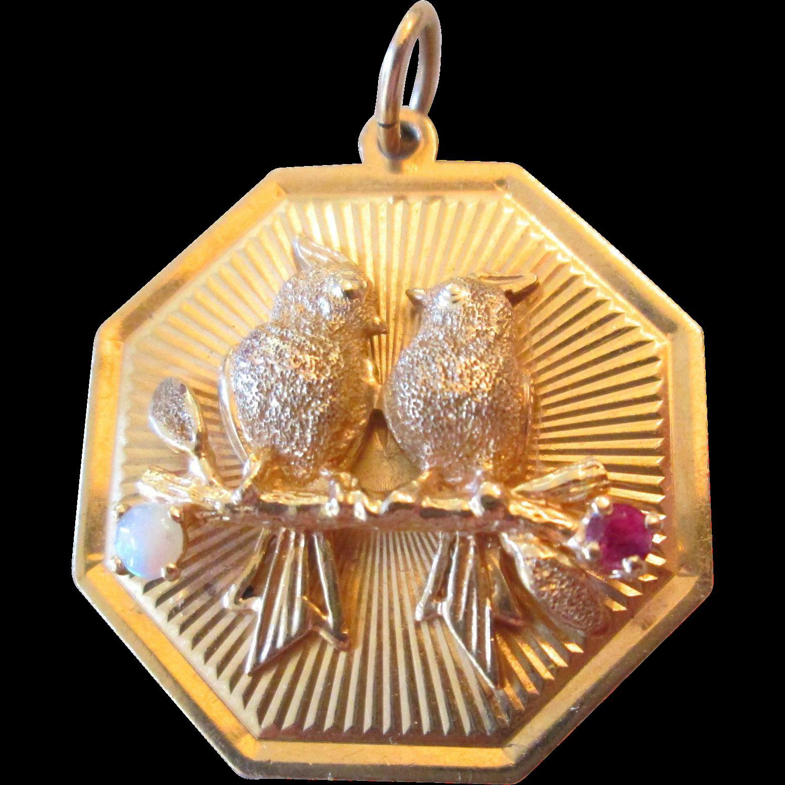 Vintage 10 Kt Gold large Crown charm pendant Vintage Charm for Bracelet Vintage Pendant