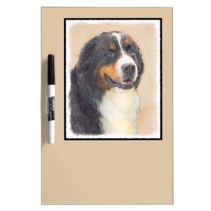 #Bernese Mountain Dog Dry-Erase Board - #bernese #mountain #dog #puppy #dog #dogs #pet #pets #cute #bernesemountaindog