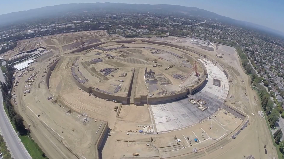 A Drone Flew Over Apples New Campus And What It Saw Was Amazing