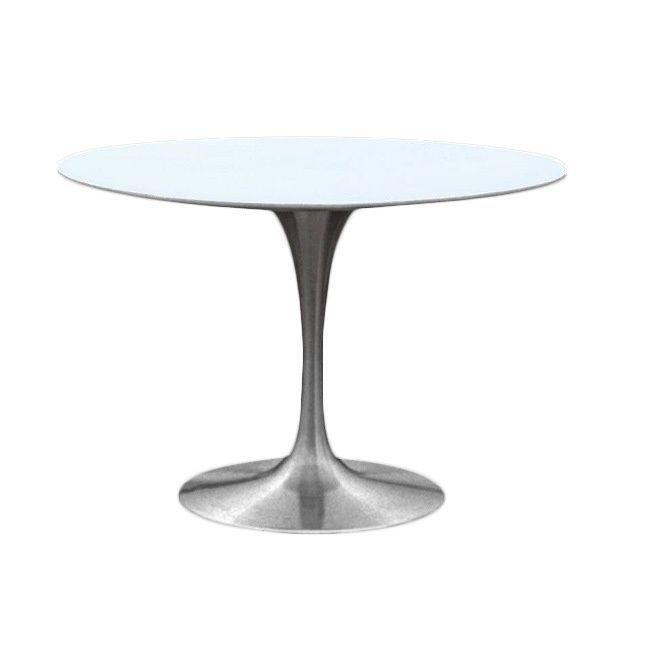 Silverado 30 Inch Round Dining Table White Products In