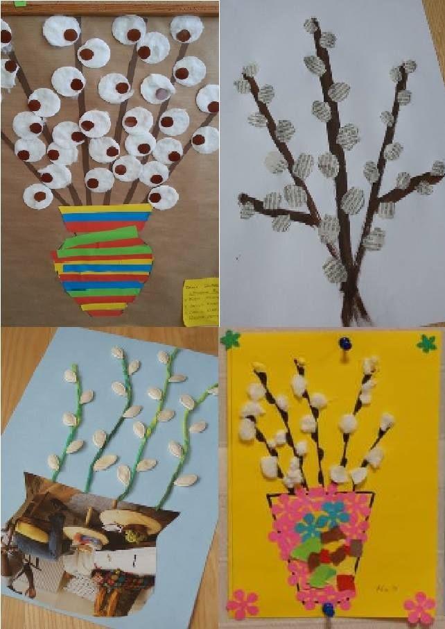 Bazie Kotki Kindergarten Art Crafts Art And Craft Flowers Spring Flower Crafts
