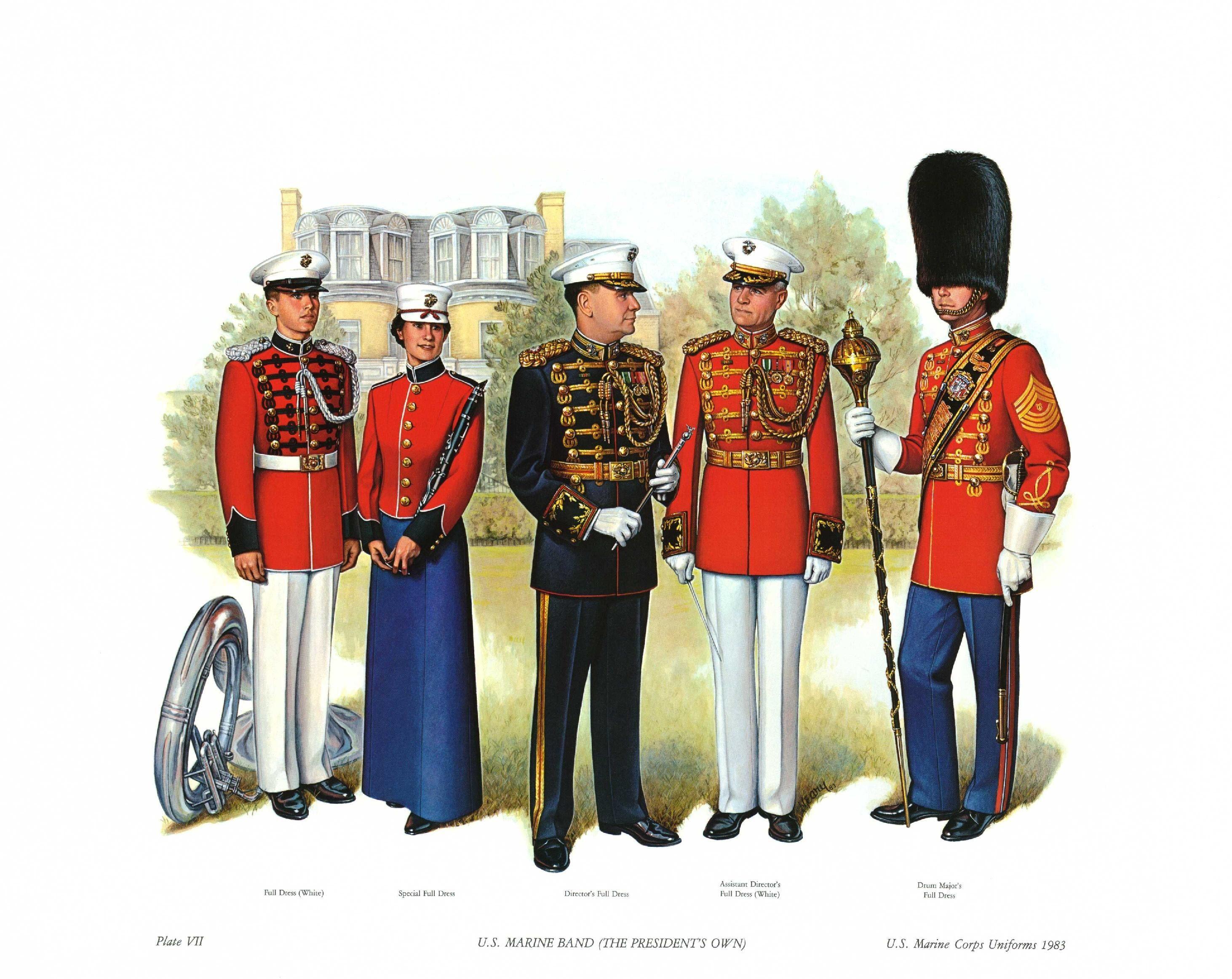 U S Marine Band The President S Own 1983 United States Marine Corps Usmc Military Uniform