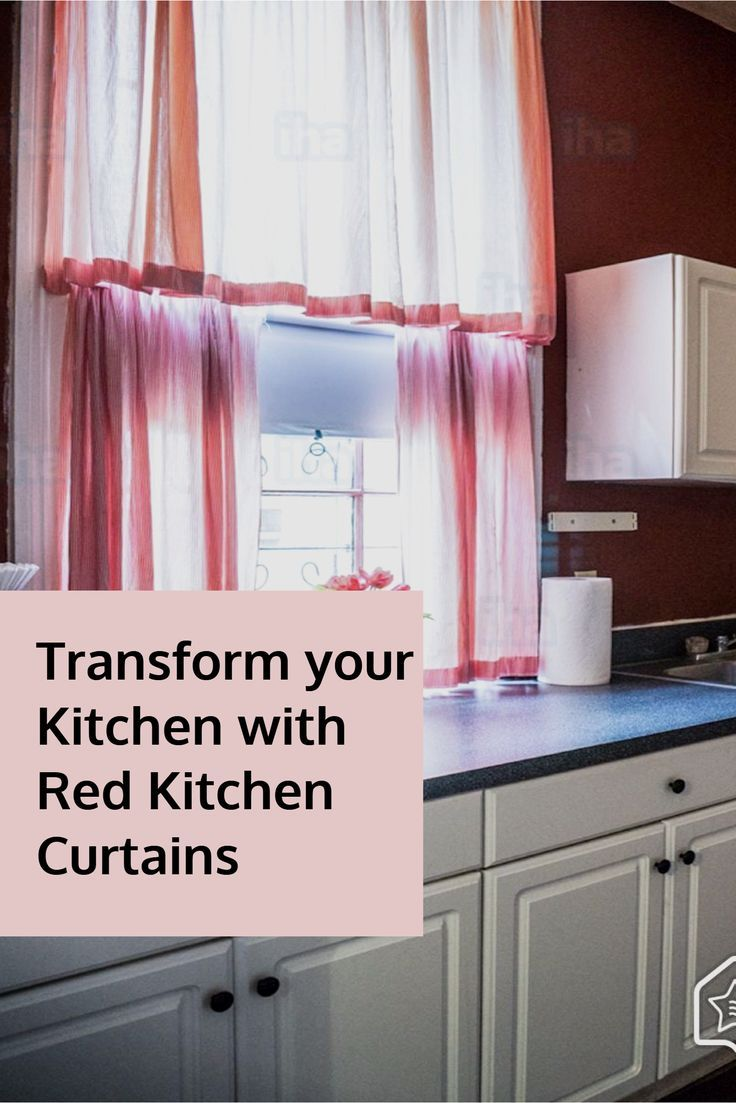 Transform your kitchen with red kitchen curtains kitchen pinterest red kitchen curtains red kitchen and kitchen curtains