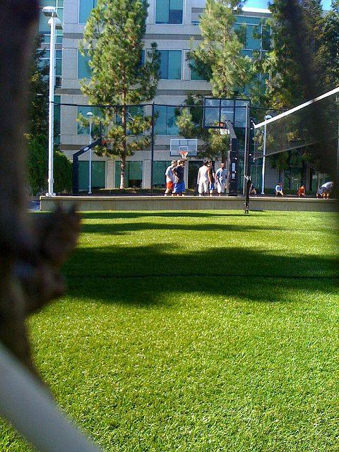 Apple HQ, basketball court.