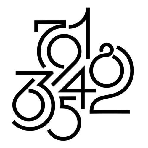 number  nombre et chiffres typographie dessin