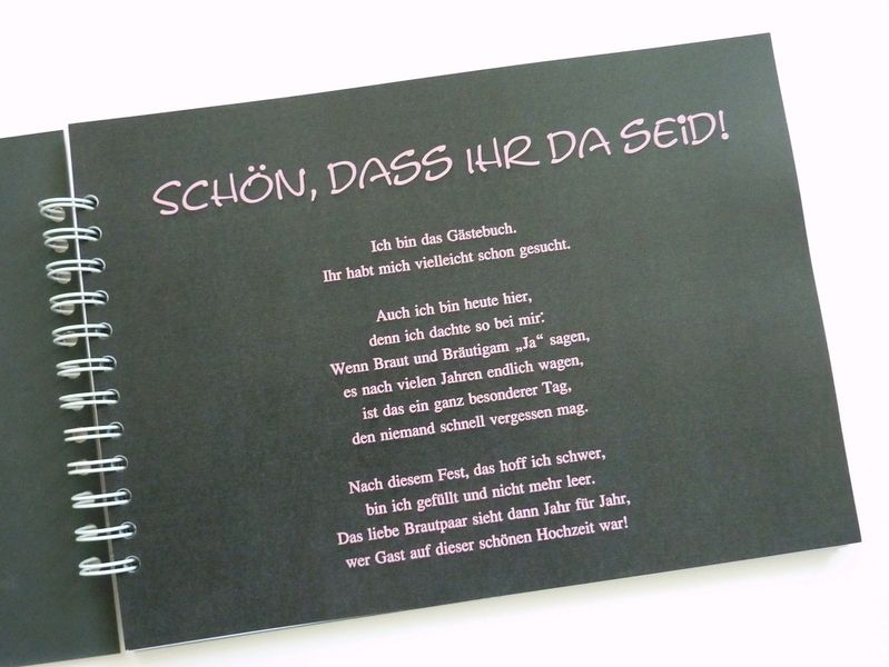 Gästebuch Schild für Hochzeit im Tafel Look Finde bei uns