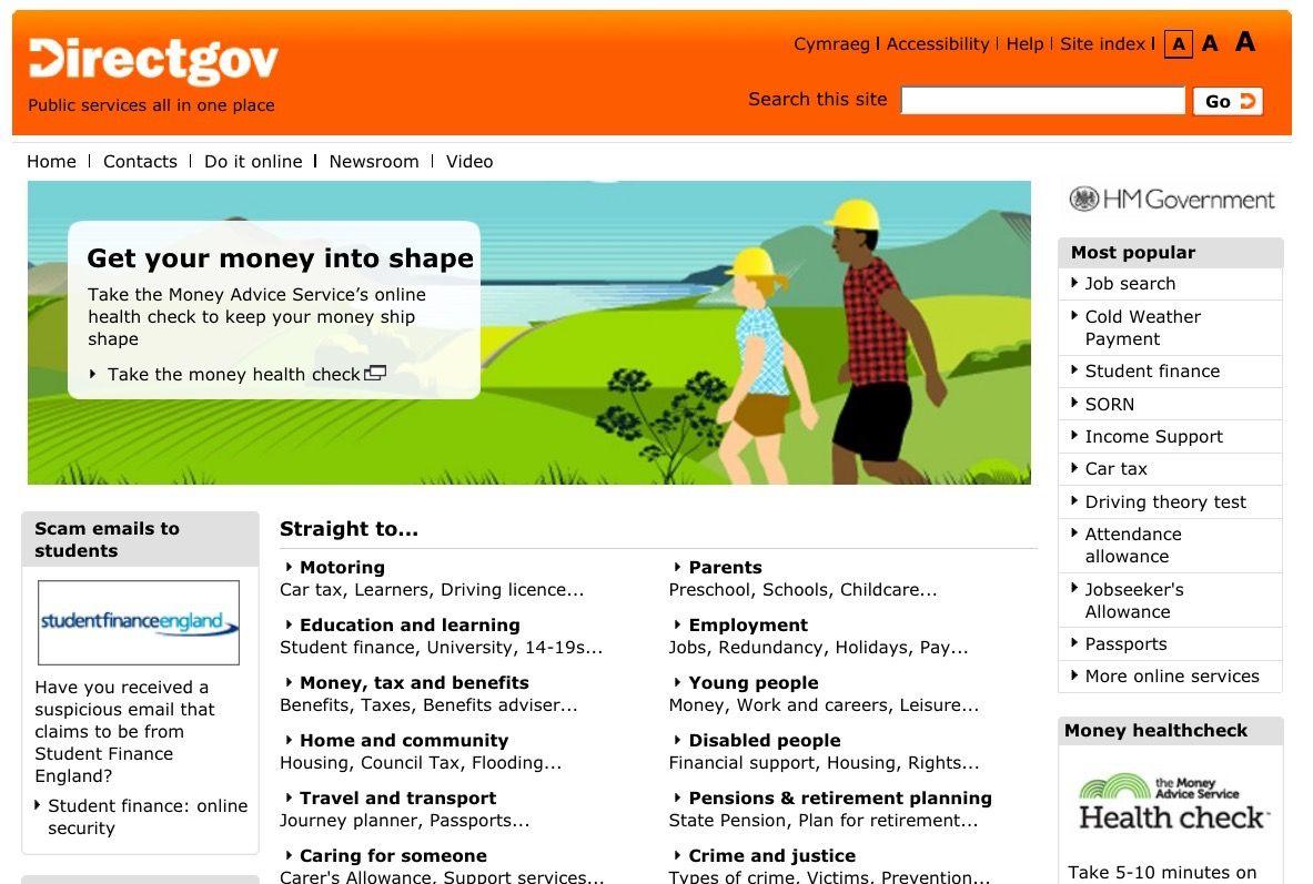 Directgov, the precursor to Gov.uk (With images) Health