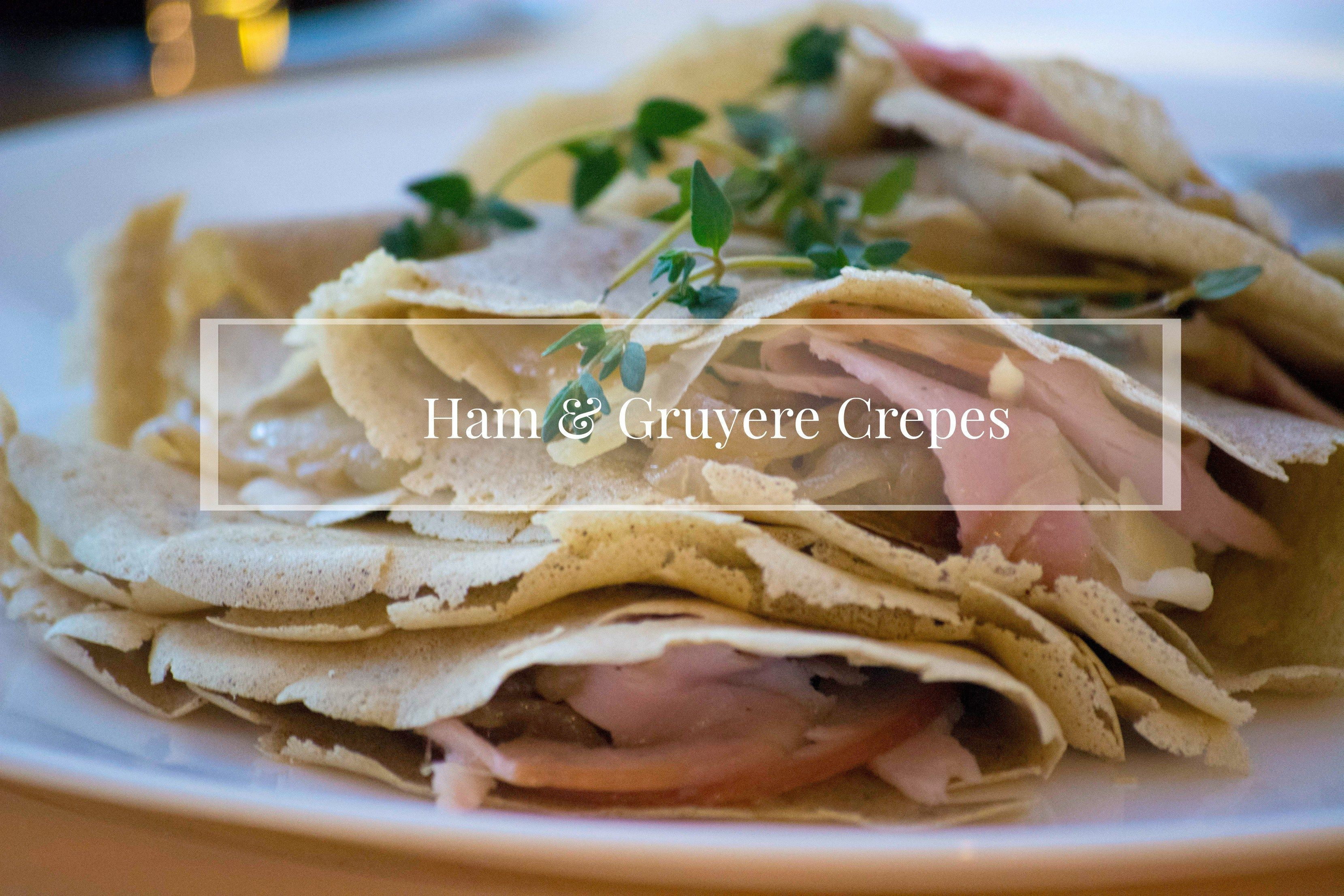 Ham And Gruyere Crepes with Caramelized Onion and Thyme   littlebrightthings.com  recipe food brunch