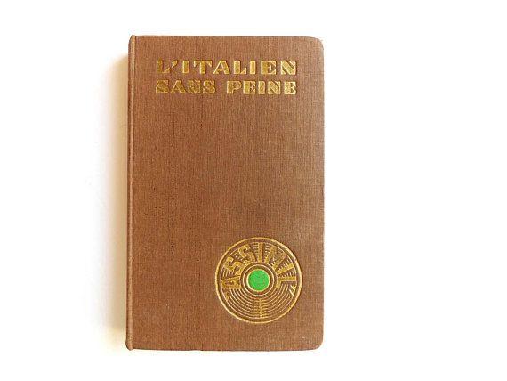 Livre Francais Italien Vintage 1957 Apprendre Langues