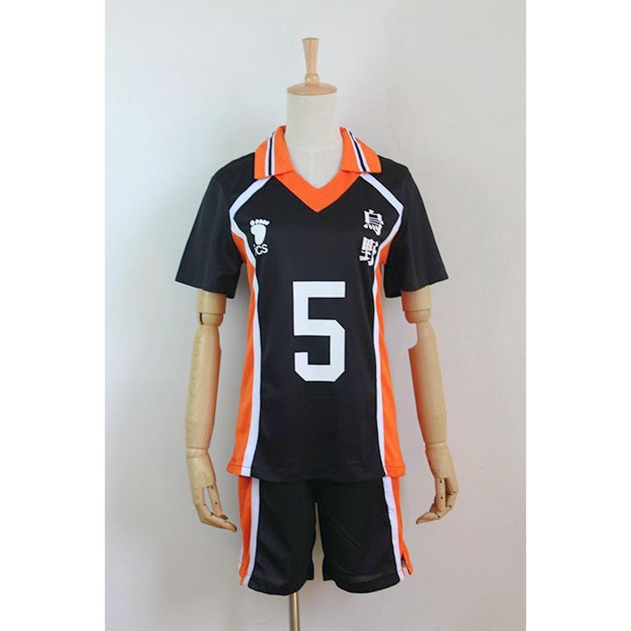 Haikyuu Karasuno High School Uniform Jersey No 5 Ryuunosuke Tanaka Cosplay Cos School Uniform High Haikyuu Cosplay Cosplay Costumes Cosplay