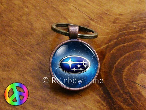 ccecaa7c5b Handmade Subaru Keychain Key Chain Case Key Ring Accessories Gift ...