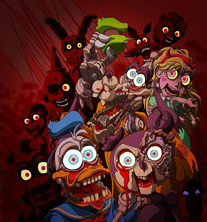 Disney Characters As Animatronics With The Fnaf Ones With