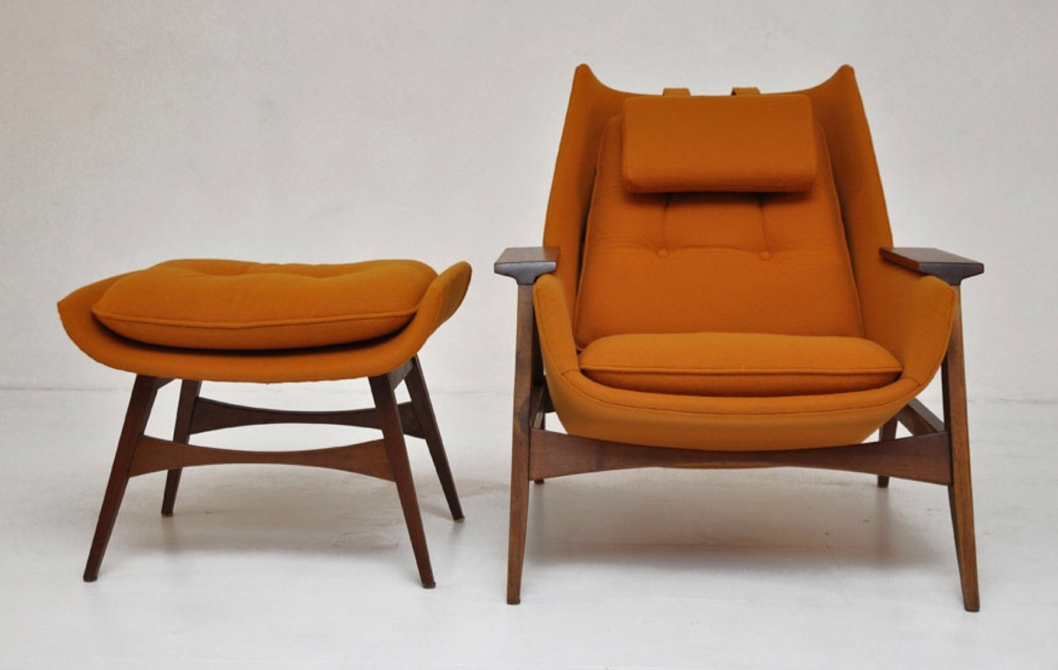 Adrian Pearsall Lounge Chair w Ottoman  Furniture  Mid