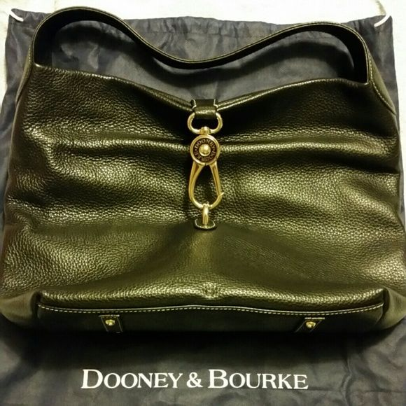 Dooney & Bourke Authentic Large  Dooney & Bourke Black pebble leather, very large carried a few times,  excellent shape Dooney & Bourke Bags