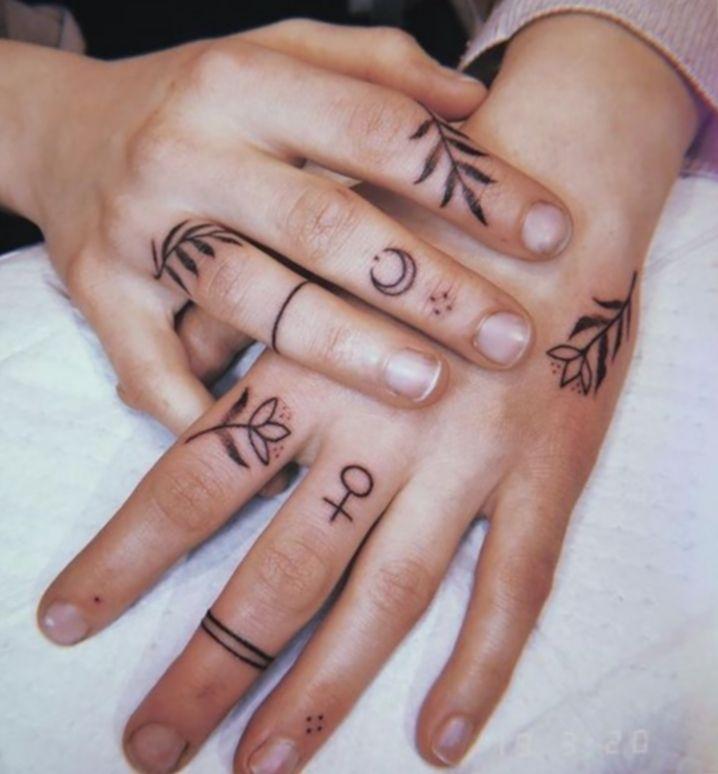 14+ Tattoo Hand Small Girls in 2020 | Finger tattoo
