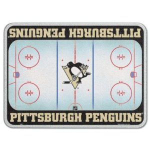 """Pittsburgh Penguins 11 x 15 Glass Cutting Board by WinCraft. $29.99. Water-resistant Teslin® graphic laminated on the back. 1/4""""-thick tempered glass cutting board. Officially licensed. Four rubber pegs on the bottom for stability. Dimensions: L 15"""" x W 11"""". Pay tribute to your favorite team when you chop up veggies on this NHL® cutting board from WinCraft™. It features a durable, water-resistant Teslin® graphic laminated on the back, while four rubber pegs ..."""
