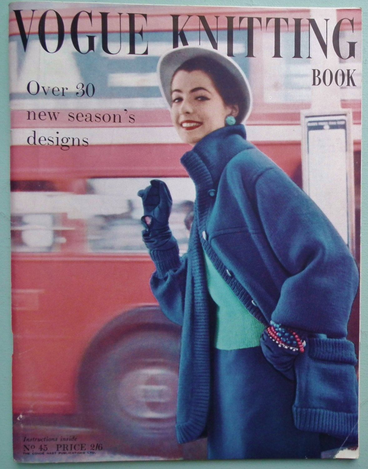 Vogue knitting book no 45 1950s 0 blueazulazzurro vogue knitting book no 45 vintage knitting patterns womens jackets sweaters jumpers suits bedjackets lace stole original patterns bankloansurffo Choice Image