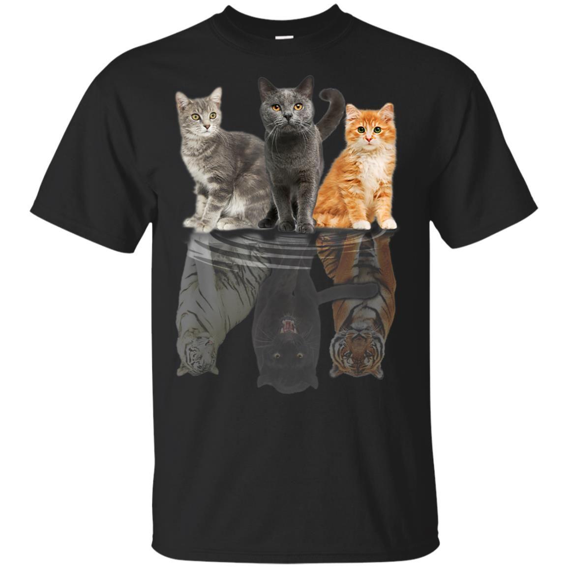 Cats Reflection Mirror Puma Cheetah Tiger Funny Cat Lover Shirt Hoodie Sweatshirt Cameow Cat Lover Shirt Lover Shirts Cat Lovers