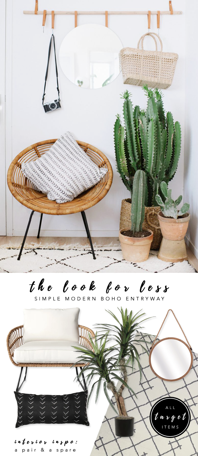LOOK FOR LESS: 3 Designer Inspired Modern Boho Entryways Using...