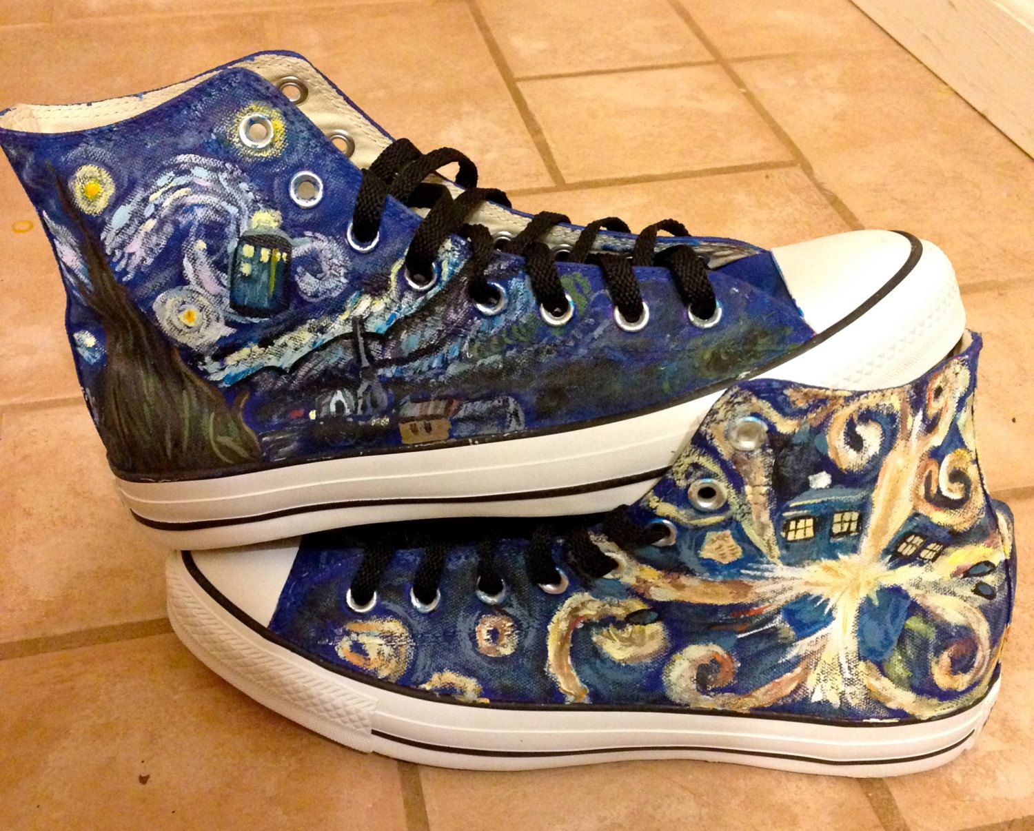 Custom Hand Painted Doctor Who | Doctor who converse, Doctor