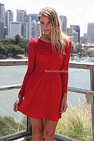 Lucky One Dress - Red