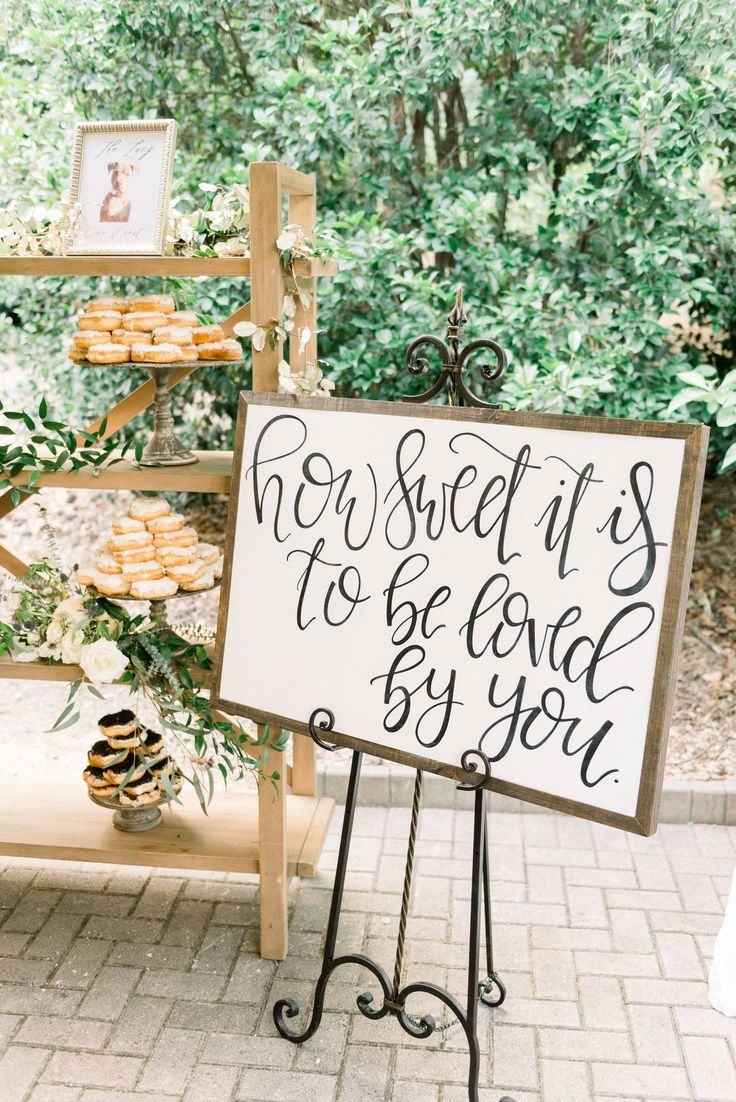 Yes how sweet it is! Donut display for Carmen and Seth's June wedding reception. June 16, 2018