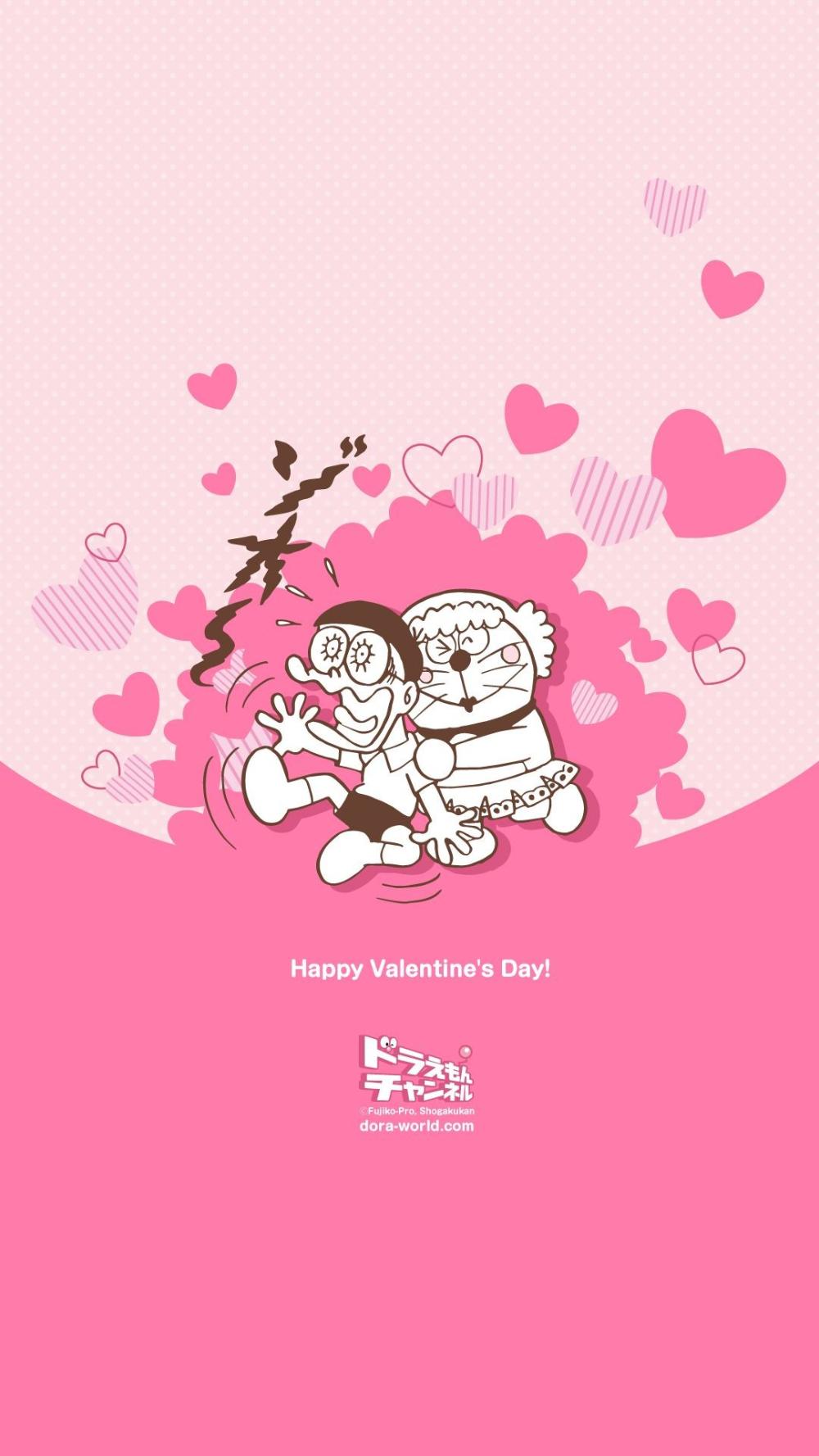 Doraemon Background Pink