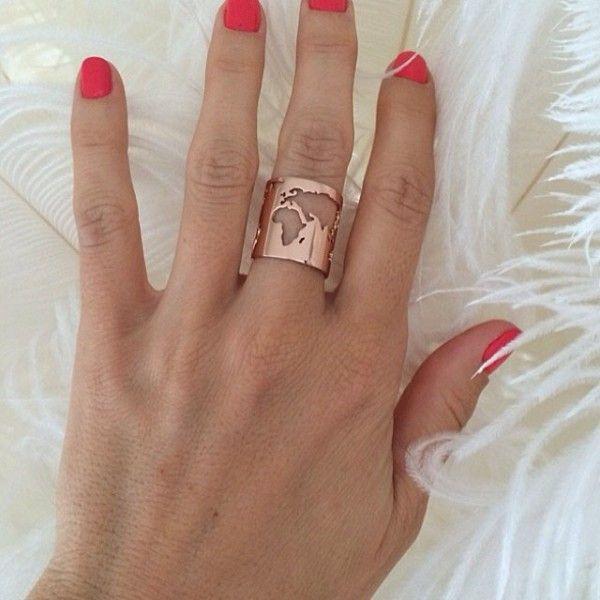 Artelier world map ring accessories pinterest ring jewel and artelier world map ring gumiabroncs Gallery