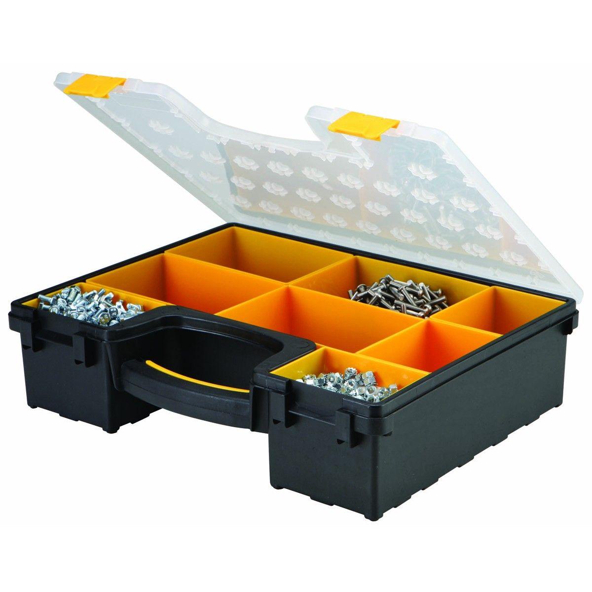 8 Bin Large Portable Parts Storage Case