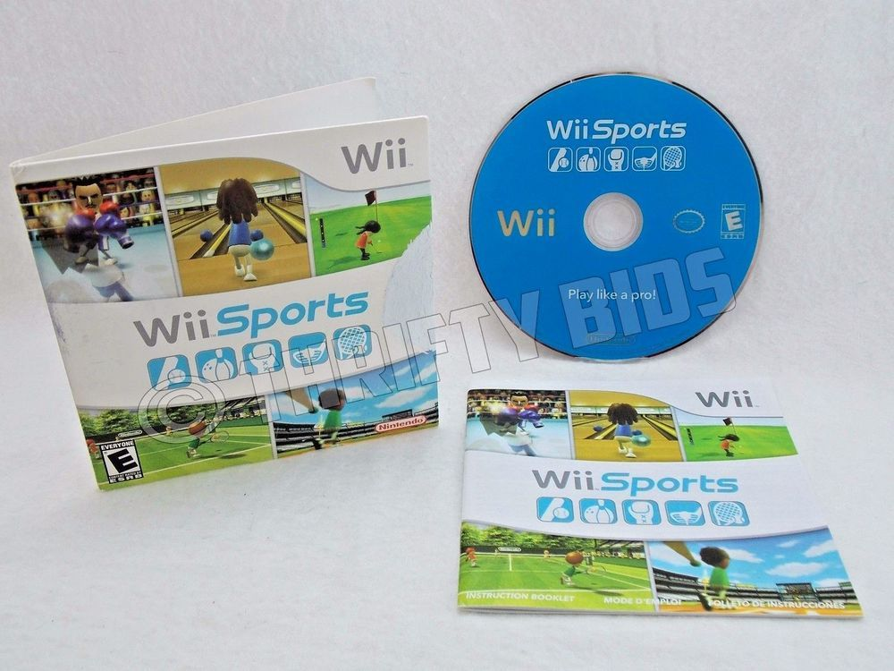 Nintendo Wii Sports 2006 Complete with Disc Manual and