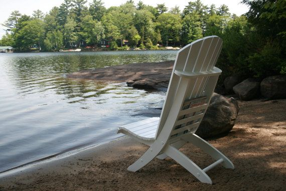 Adirondack Beach Chair Plans Portable 2 piece by TheBarleyHarvest