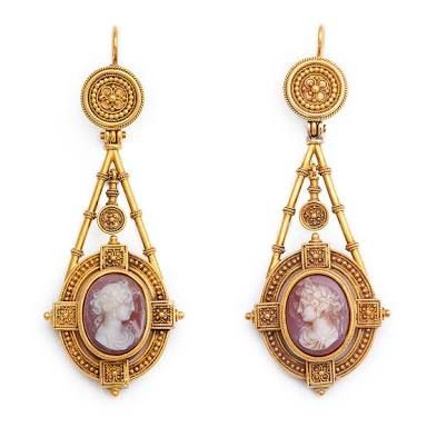 Image Result For Antique Cameo Earrings