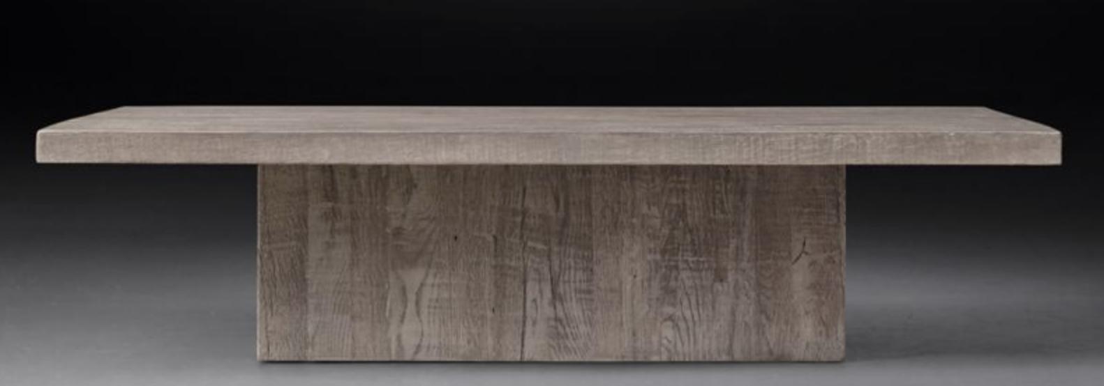 Sizes 55 W X 32 D X 14 H 183 Lbs 68 W X 43 D X 15 H 249 Lbs 80 W X 50 D X 14 H 220 Lbs Material Reclaimed Grey Ru Oak Grey Oak Coffee Table