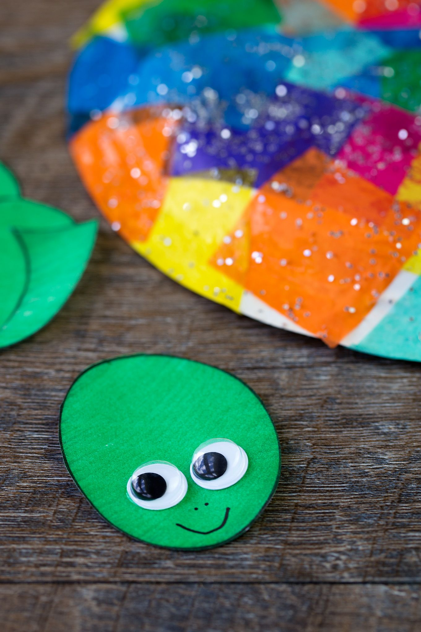 Tissue Paper And Paper Plate Turtle Craft Craft Ideas Crafts