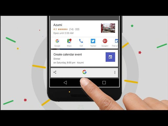 Get instant answers anywhere on your Android M