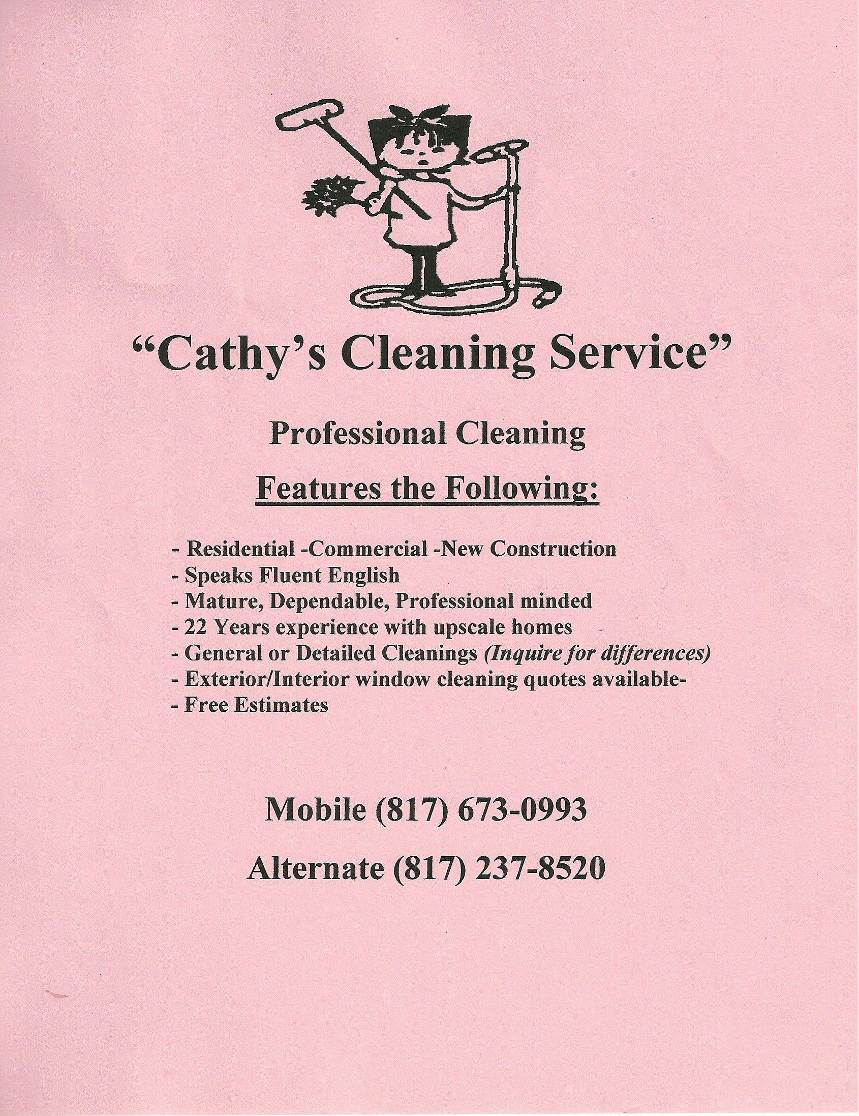 House Cleaning Services | Creative Marketing Materials for a House ...