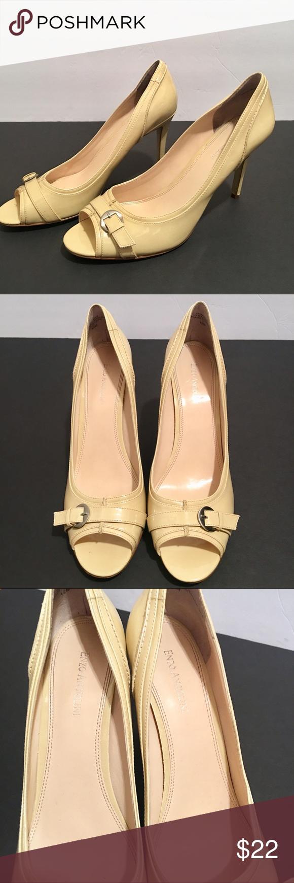 Enzo Angiolini • Nude Peep Toe Heels Size 12 Enzo Angiolini nude Peep toe  heels size 42a694d17a4d