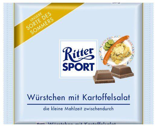 RITTER SPORT Fake Schokolade Würstchen mit Kartoffelsalat ...