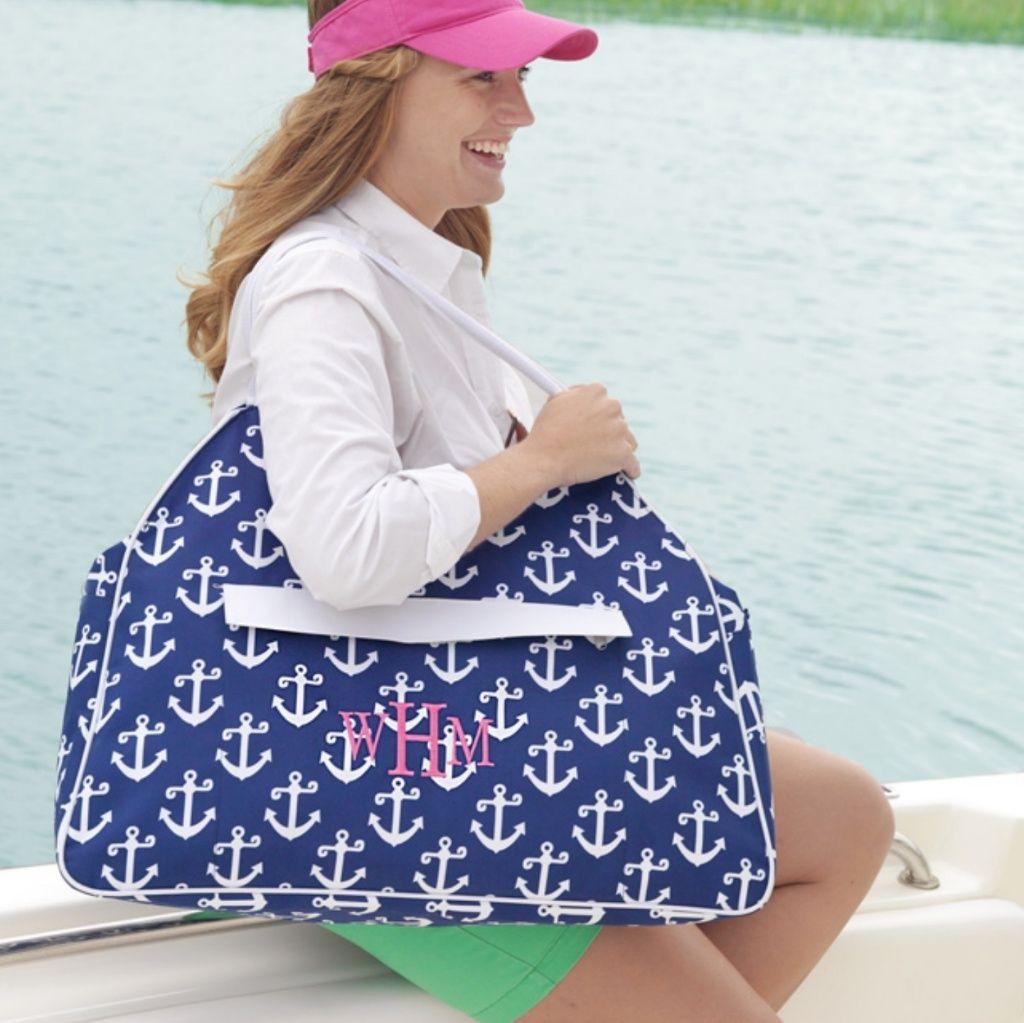 Blue Anchor Beach Bag