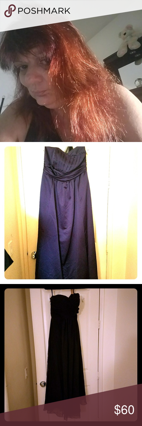 Dress Strapless Purple Dress ($75) Strapless Black evening dress (has tag) ($75) Evening dress with sequence ($50 / obo) Dresses