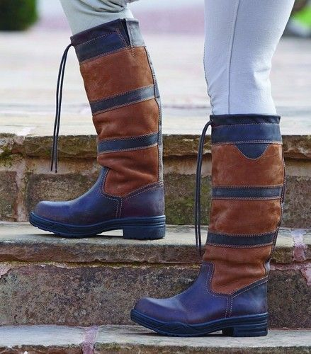 New Shires Charlbury Waterproof Leather Riding Country Boots 4 7 Wide Fit English Riding Boots Country Boots Boots
