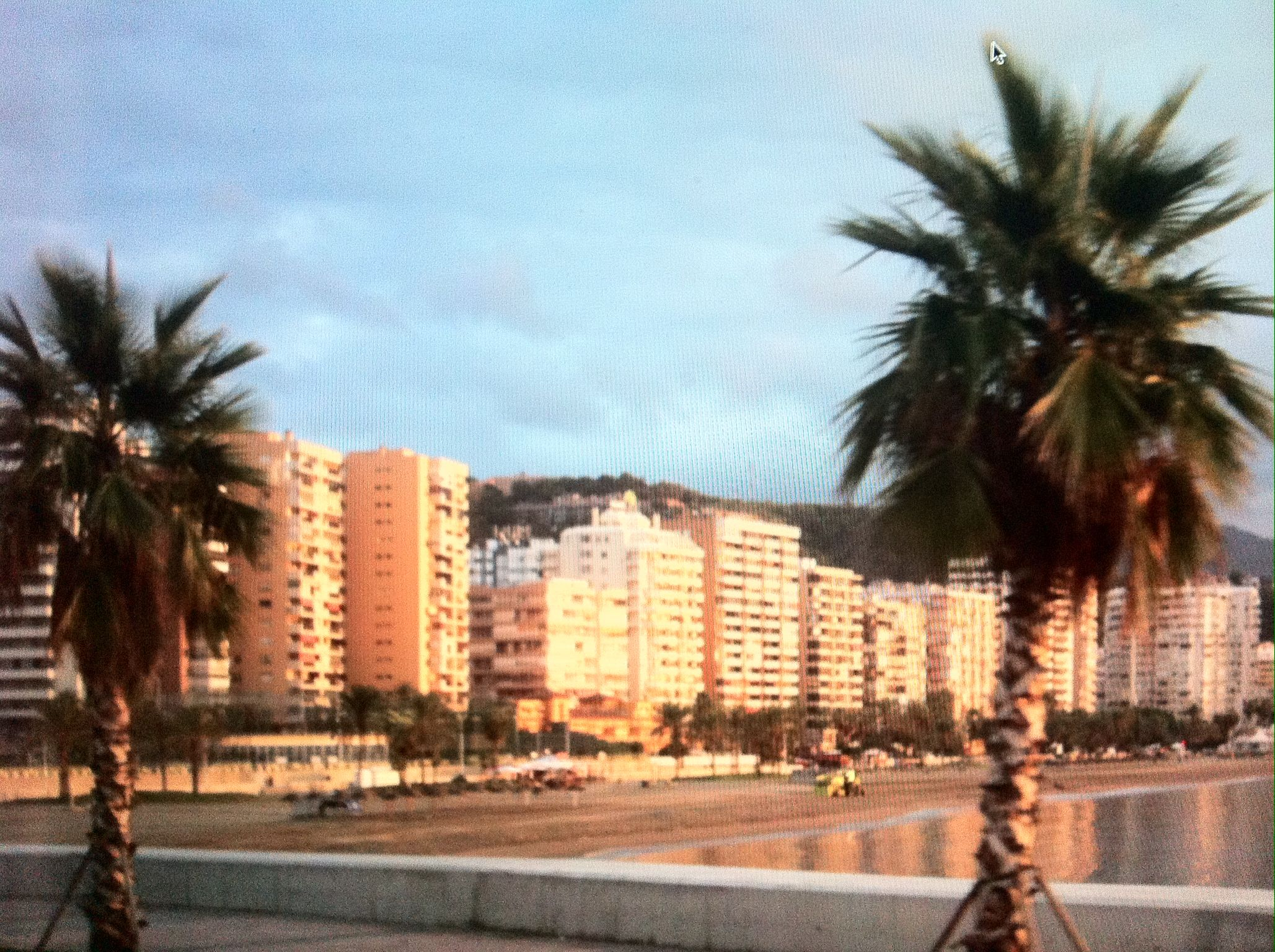 Malaga Spain at sunrise